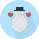 character, christmas, circle, december, holiday, man, snow, winter, xmas icon
