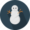 christmas, circle, december, holiday, man, snow, winter, xmas icon