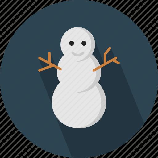 christmas, circle, december, holiday, man, snow, winter, xmas icon