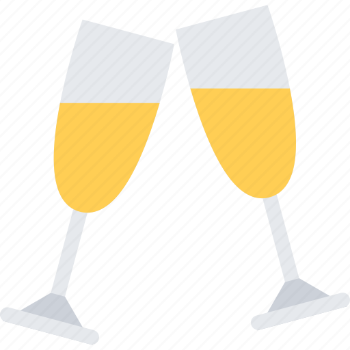 champagne, christmas, holidays, new year, winter icon