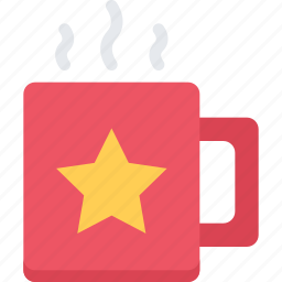 christmas, cup, holidays, new year, winter icon