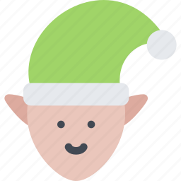 christmas, elf, holidays, new year, winter icon