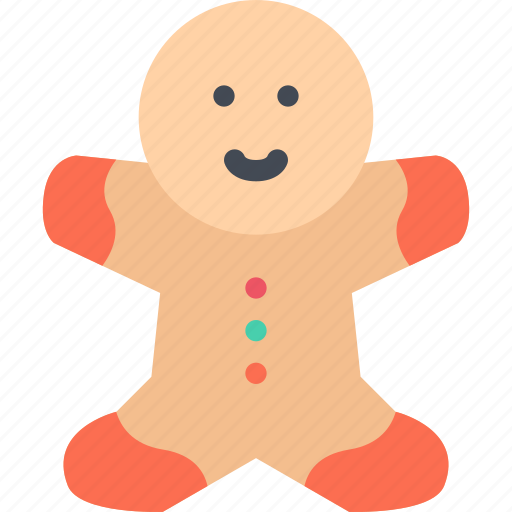 christmas, gingerbread, holidays, man, new year, winter icon