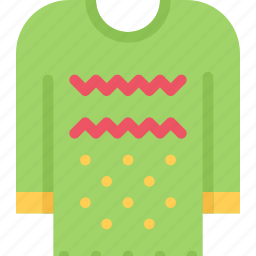 christmas, holidays, new year, pullover, winter icon