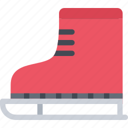 christmas, holidays, new year, skates, winter icon