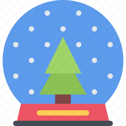 christmas, globe, holidays, new year, snow, winter icon