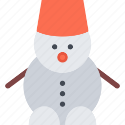christmas, holidays, new year, snowman, winter icon