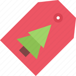 christmas, holidays, new year, tag, winter icon