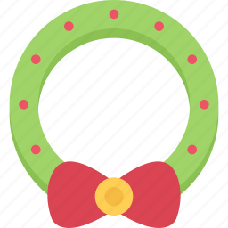 christmas, holidays, new year, winter, wreath icon