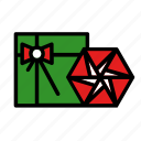 bow, bowchristmas, gift, new year, present, star icon