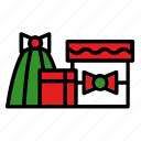 bow, box, christmas, gift, new year, present icon