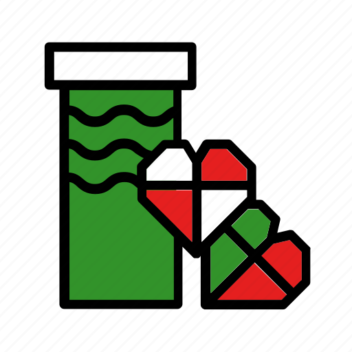 box, christmas, gift, hearts, new year, present icon