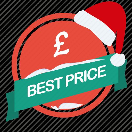 best, christmas, guarantee, label, pound, price, santa icon