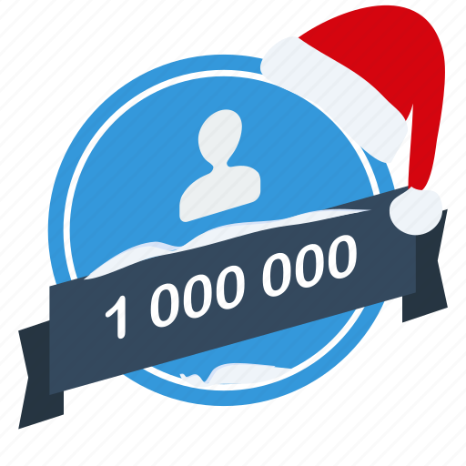 christmas, guarantee, label, million, one, santa, user icon