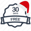 christmas, days, free, label, sale icon