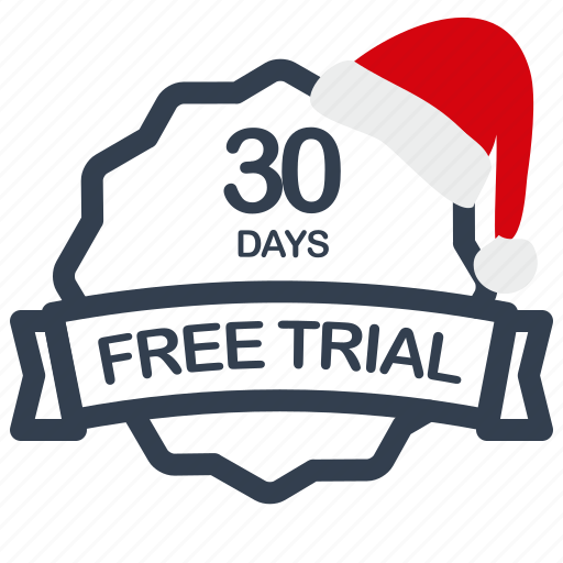 christmas, days, free, label, sale, trial icon