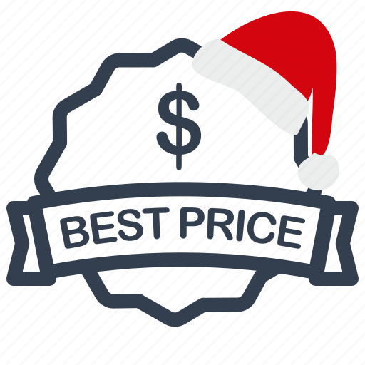 best, christmas, label, price, sale icon