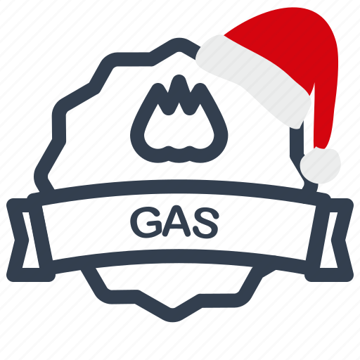 christmas, gas, label, sale icon