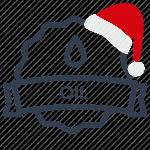 christmas, label, oil, sale icon