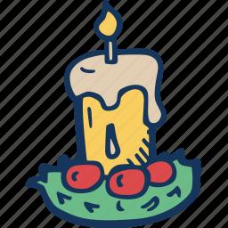 candle, christmas, decoration, holiday, holidays, xmas icon
