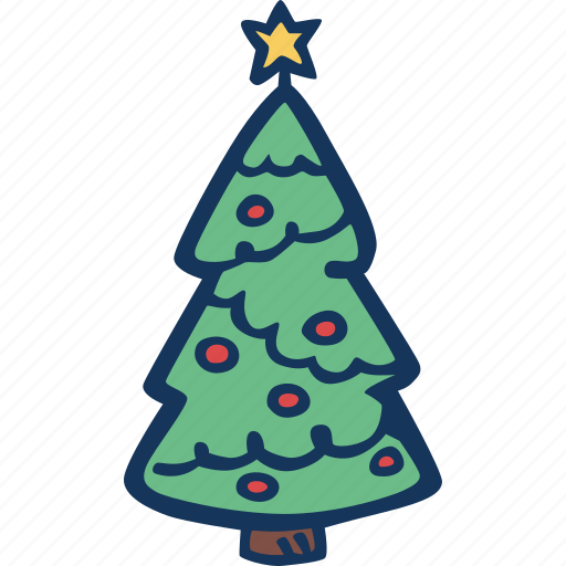 christmas, christmas tree, christmass, decoration, holidays, tree, winter icon