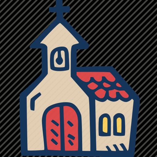 building, christian, christmas, church, holidays, mass, praying icon