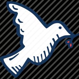 bird, christmas, dove, joy, peace, pidgeon, xmas icon