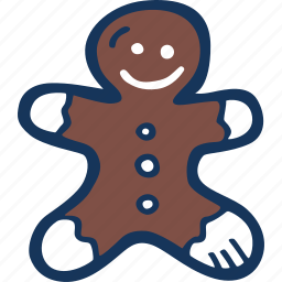 christmas, cookie, gingerbread, guy, holiday, xmas icon