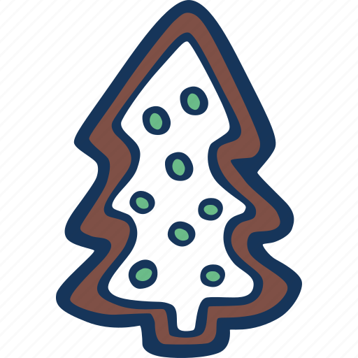 christmas, cookie, gingerbread, holidays, tree, winter icon