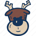 christmas, holiday, holidays, reindeer, winter, xmas icon
