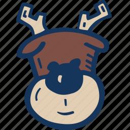 christmas, holiday, holidays, reindeer, winter, xmas icon