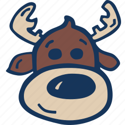 christmas, holidays, reindeer, winter icon