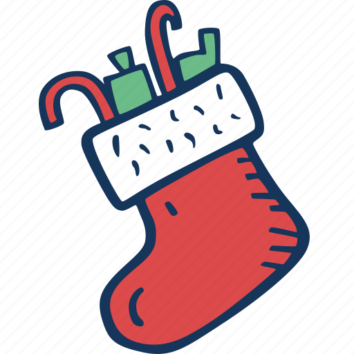 christmas, decoration, full, holidays, santas, sock, winter icon