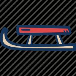 fun, sledge, slide, sport, winter icon