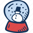 christmas, decoration, globe, snow, snow globe, winter icon