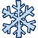 cold, snowflake, winter, weather, snow, forecast icon