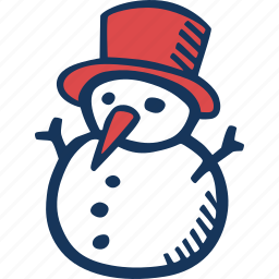 christmas, holidays, snowman, winter icon