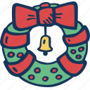 christmas, decoration, holidays, wreath icon