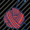 ball, knitting, yarn, hand made, hobby, sweater icon
