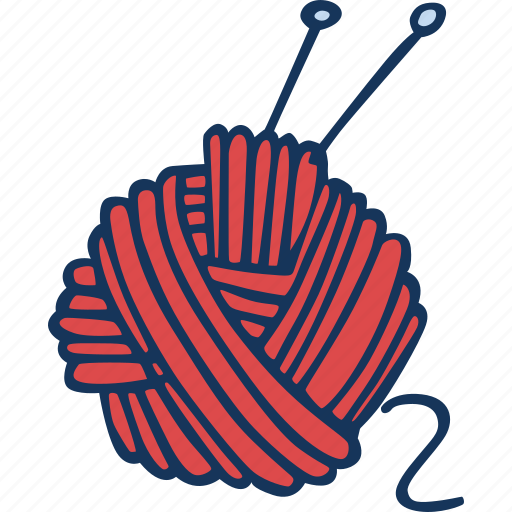 ball, hand made, hobby, knitting, sweater, yarn icon