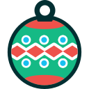 ball, christmas, decoration, new year, winter, xmas icon