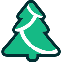 christmas, christmas tree, evergreen, tree, winter, xmas icon