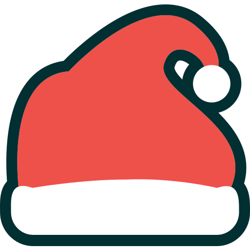 cap, christmas, decoration, hat, holiday, santa, winter, xmas icon