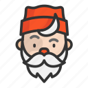 cartoon, christmas, cute, funny, santa, santa claus icon