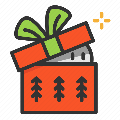 cartoon, christmas, cute, funny, gift icon