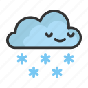 cartoon, christmas, cloud, cute, funny, snowflake icon