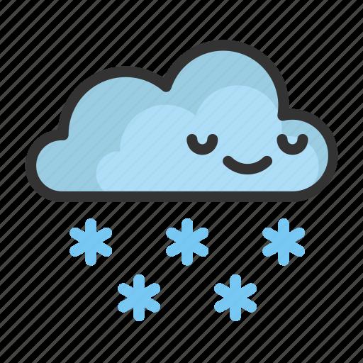 cartoon, christmas, cloud, cute, funny, snowflake icon