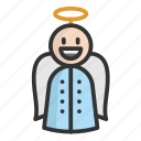 angel, cartoon, christmas, cute, funny icon