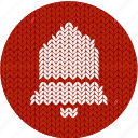 bell, cloth, fabric, knitwear, red, white