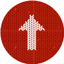knitwear, fabric, upload, cloth, arrow, white, red